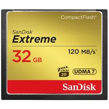 SanDisk 32GB Read 120MB/s Write 85MB/s Extreme CompactFlash CF Memory Card UDMA7