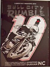Screen-Printed Vintage Motorcycle Poster Ace Cafe Racer Triumph BSA Norton AJS