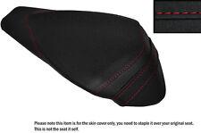 GRIP VINYL RED STITCH CUSTOM FITS APRILIA RSV4 R 1000 09-15 REAR SEAT COVER