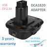 DCA1820 Battery Adapter for Dewalt 18V Tools Convert Dewalt 20V Battery with USB