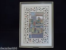 VINTAGE MIDDLE EASTERN WATERCOLOUR ON LINEN MOUNTED AND FRAMED (NO2)