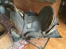 Antique Leather Western Horse Saddle for Decoration or Restoration or Display