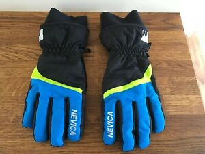 NEVICA WINTER GLOVES, DRIVING, CYCLING, FASION. BLACK & BLUE, SIZE XLB
