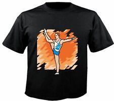 Motiv Fun T-Shirt Kunstturnen Turnen Ballet Leichtathletik wow Motiv Nr. 6347