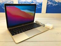 "Apple MacBook Retina 2016 12"" Laptop 256GB SSD 1.1GHz 8GB RAM A1534 Gold"