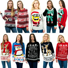 Women Vintage Sweater Christmas Extra Thick Retro Knitted Xmas Jumper