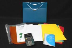 Lot School Desk Supplies Binder Organizer TI Calculator Dividers Paper Graph