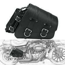 Right Side Motorcycle Leather Saddle Bag Storage For Sportster XL883 1200 04-UP