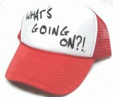 What's Going On My Name is Earl Trucker Hat mesh hat snapback hat Red