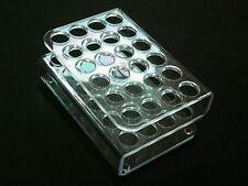 Acrylique rack pc transparent 24 échantillons ampoules éléments collection piliers de la terre