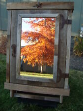 Reclaimed  Rustic Farmhouse Medicine Cabinet with mirror