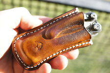 Leather holster pancake sheath pouch for Multitool Leatherman Skeletool CX