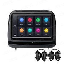 "2x 9"" HD Digital Touch Screen Car Headrest DVD Player HDMI 1080P, 2 x Headphones"
