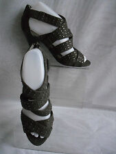 LIMITED COLLECTION WOMENS GREY FAUX SUEDE PEEP TOE SANDALS/SHOES SZ:5/38(WHS192)