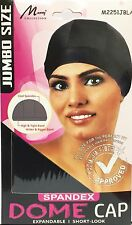 Womens Spandex Dome Cap Flexible Breathable Material #2251JBLK Jumbo/Large Size