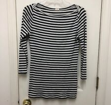 J.crew OPTICAL ILLUSION BLACK WHITE Long Sleeve Shirt For Juniors/women Size S