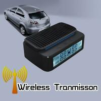 Solar Powered Car TPMS Tire Pressure Monitoring System w/ 4 External Sensors