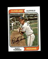 Rusty Torres Hand Signed 1974 Topps Cleveland Indians Autograph