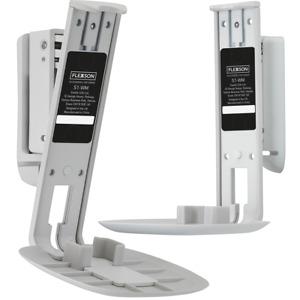 Flexson Swivel Tilt Wall Brackets Sonos One (Gen:2) SL Play:1 Pair 2 Pack White