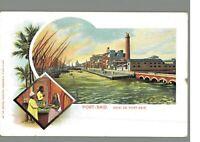 Port Said :: Egypt : Vintage Postcard.
