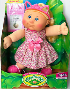 """Cabbage Patch Kids Babies 14"""" Baby Doll Kid Toy Baby Name+DOB Girl Baby"""