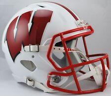 Wisconsin Badgers Ncaa Riddell Speed Full Size Replica Football Helmet