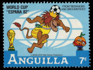 ANGUILLA 496 (SG524) - Disney Espana '82 World Cup Football (pf84724)