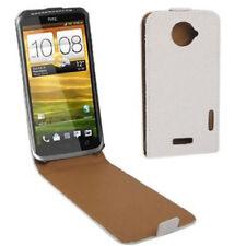 Flip Tasche Glitzer Style für HTC One X in weiß Etui Hülle Case Schutzhülle