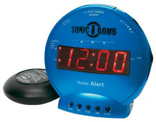Sonic Bomb Loud Dual Alarm Clock with Vibrating Bed Shaker (Turquoise) SBB500SST