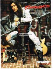 1990 WASHBURN KC-40 Electric Guitar NUNO BETTENCORT of Extreme Vtg Print Ad