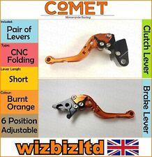 Kawasaki ZZR 600 1990-2004 [Folding Short Orange] [Comet Adjustable Race Levers]