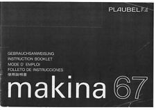 Plaubel Makina 67 Instruction Manual photocopy multi-language