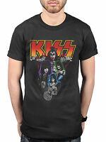 Official KISS Neon Band T-Shirt Destroyer Love Gun Gene Simmons Rock n Roll Fan
