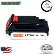 20V 2.0Ah Lithium-Ion Battery for Black & Decker 20 Volt LB20 LBX20 LBXR20