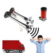 150db 12V Super Loud Dual Trumpet Air Horn Compressor Car Boat Truck Lorry UK