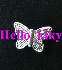 100 Pcs Tibetan silver butterfly spacer beads A1219