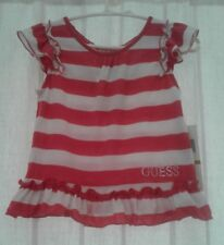 Guess Baby Girl Striped Pink T-shirt New With Tags Size 3T