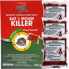 Knockout Rat & Mouse Wheat Poison Sachets for Control of Rodents - Brodifacoum