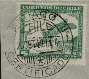 Chile 1949 Serie Gay Green postmark Santiago II used (A520)