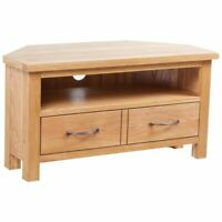 vidaXL Solid Oak TV Cabinet Stand Unit Riser Side Cabinet Entertainment Center