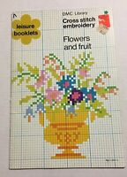 Cross Stitch Leisure Booklet DMC Library Flowers And Fruit