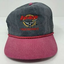 Longhorn Fireworks Strapback Hat Embroidered Bull Cobra Caps Black Red OSFA