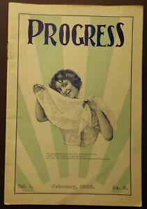 Antique Vintage Port Sunlight Soap Progress Company Magazine 1900 VERY RARE.