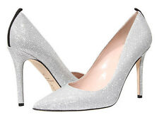 SJP by Sarah Jessica Parker Fawn 100mm Silver Luminar new in box size 40