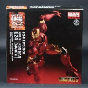 2011 Kaiyodo Revoltech SciFi 024 Iron Man 2 Mark VI Authentic Sealed