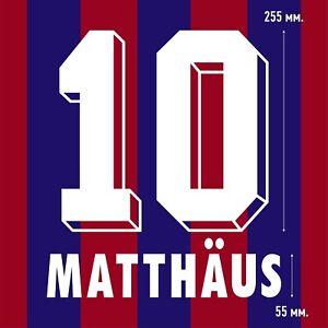 Matthaus 10. Bayern Munich Home football shirt 1995 1996 FLOCK NAMESET NAME SET