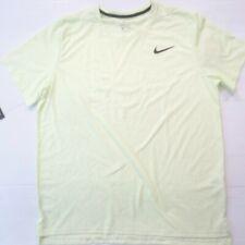 Nike Men Breathe Short Sleeve Shirt - Aj8002 - Sonic Yellow 701 - Size L - Nwt
