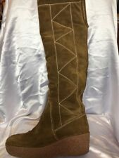 Michael Kors Khaki Suede Knee High Boots Size 7