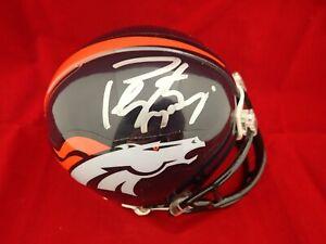 Payton Manning Signed Autograph Denver Broncos Mini Helmet  Mounted Memories COA