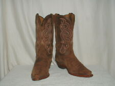 Womens Tony Lama Distressed Leather Cowboy Boots 9B Snip-Toe Style 7908L